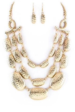 dimpled gold set