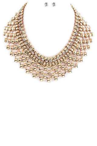 web of gold collar