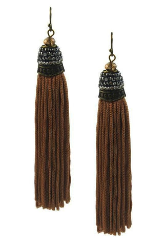 marquise tassels in chocolate
