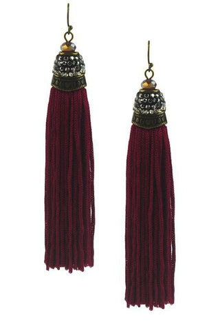 marquise tassels in wine
