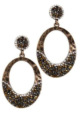 Dripping in druzy hoops