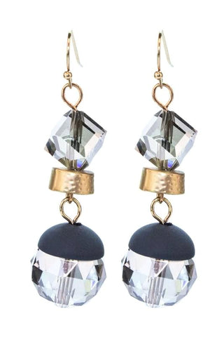 crystal cut double dangles