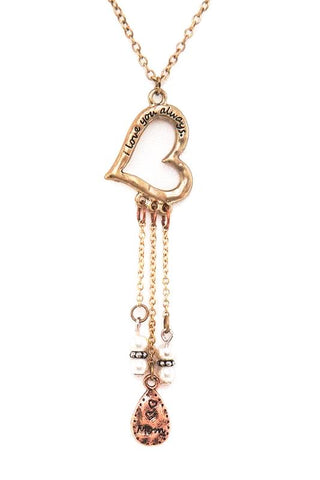 love always heart pendant