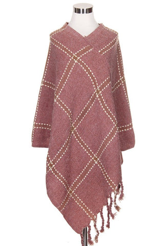 pretty in pink poncho