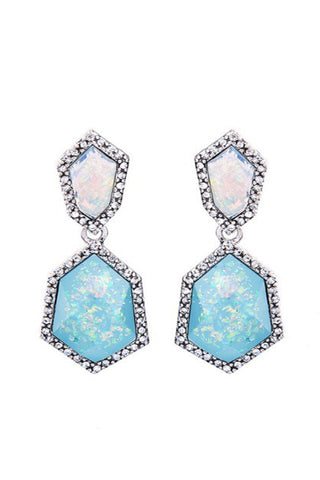 Iridescent pave crystal drops