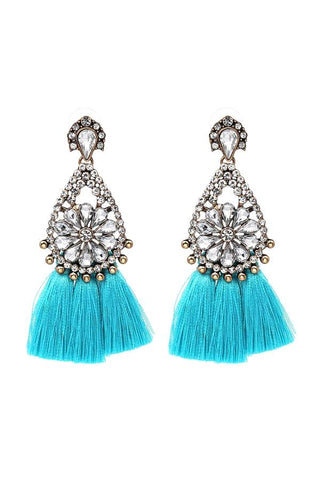 pop of turquoise tassels