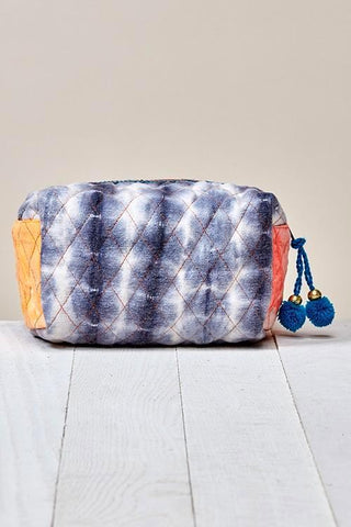 quilted tie dye make up bag