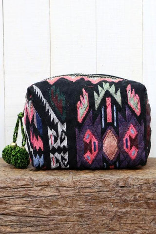 multi jacquard makeup bag