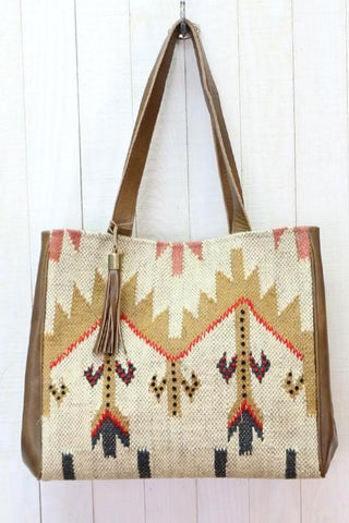 navajo leather tote