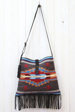 southwestern fringe cross body bag