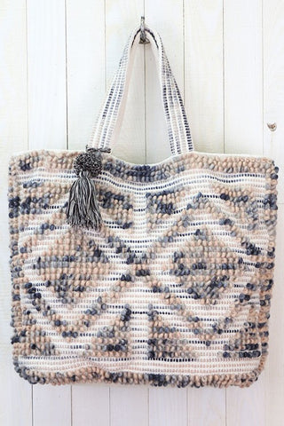 hand loom space dyed tote