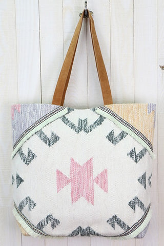 sedona suede carpet bag