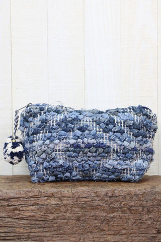 up cycle denim makeup bag