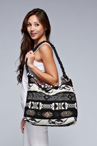 classic tapestry hobo bag