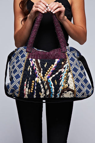 cotton tribal duffle