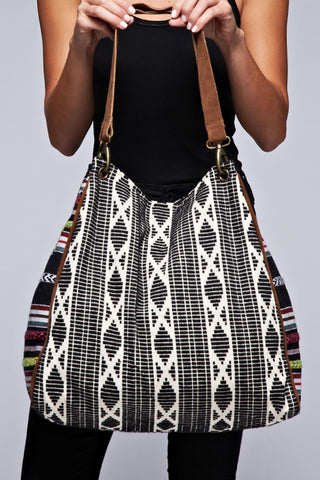 tribal print tapestry tote