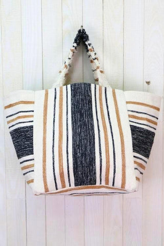 malibu striped shopper tote