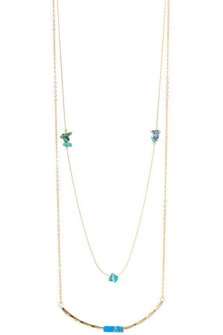 touch of turquoise with precious stones
