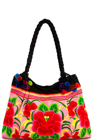 mexico city floral tote