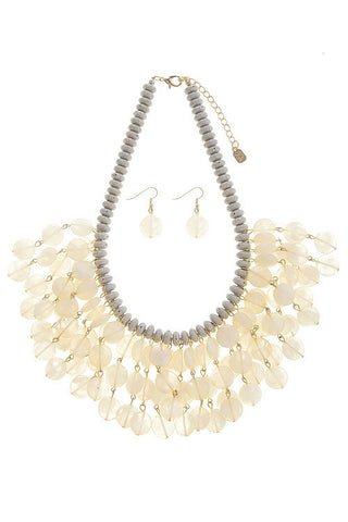 summers beaded fringe in ivory