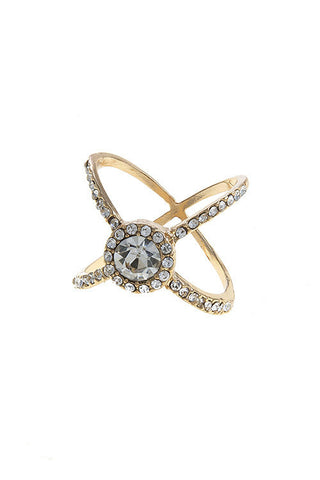 crystal lined cage ring