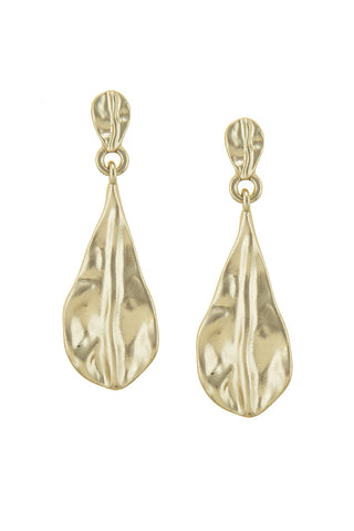 sculpted in gold angular drops