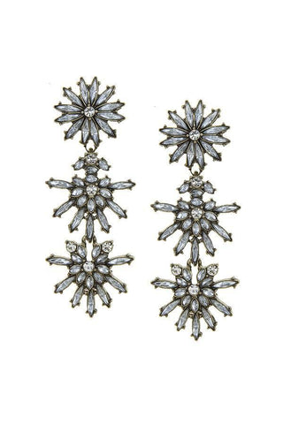 antique tiered blossom dangles