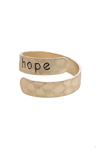 hammered in hope wrap ring