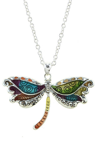 summer's painted long butterfly necklace
