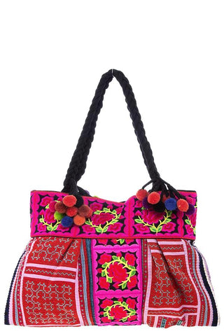 embroidered mexico city tote