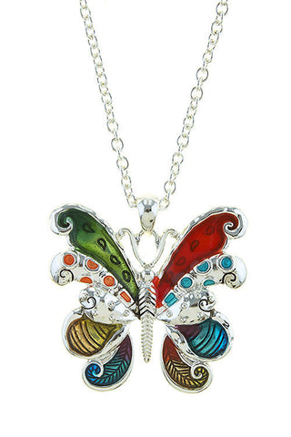 colorful butterfly pendant