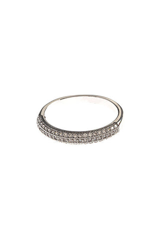 pave domed band