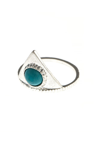 etched triangle ring