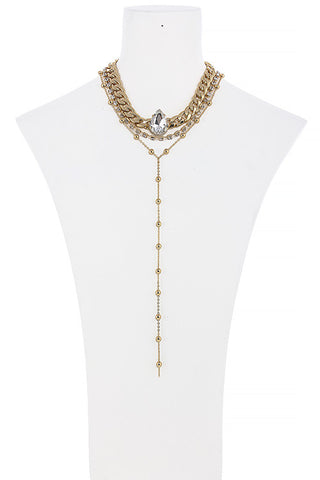 vintage studded chain drop