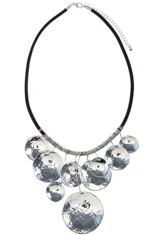 pounded amelia disc necklace