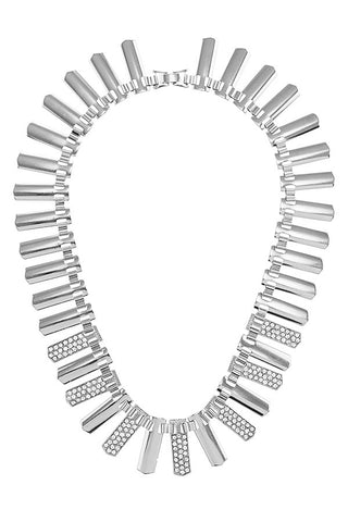 plated rhinestone necklace