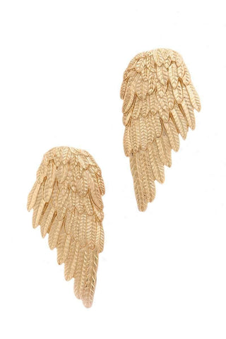 gold sculpted angel wings