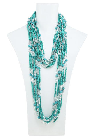long soto beaded necklace