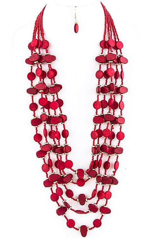 wooden seed bead in red