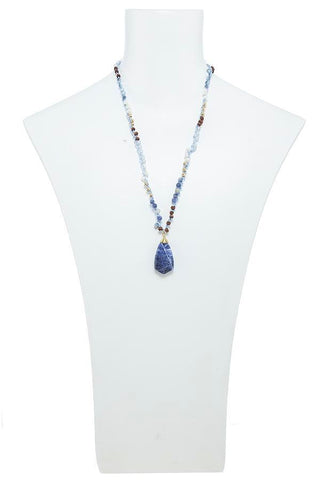 semi precious linked necklace