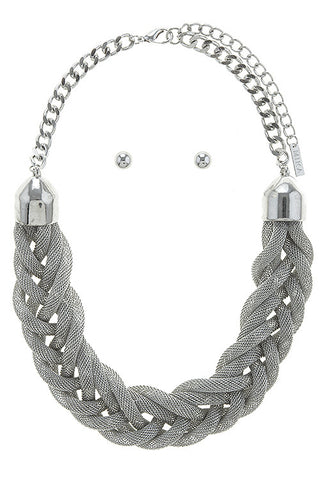 braided luxe set in silver