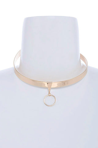 high polished metal choker