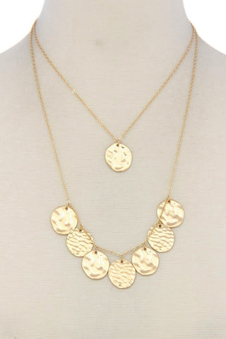 layered medallion necklace