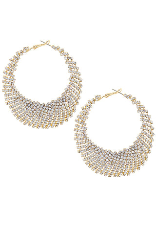pave embellished holiday hoops