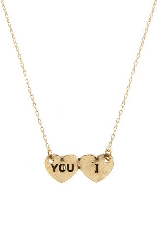dainty I heart you necklace