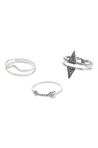 arrow accent ring set