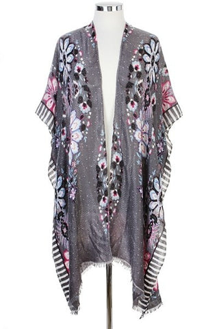 tribal duster in grey