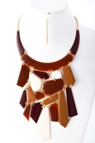 autumn's palette statement necklace
