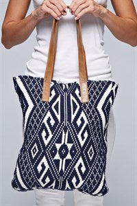 tapestry canvas tote