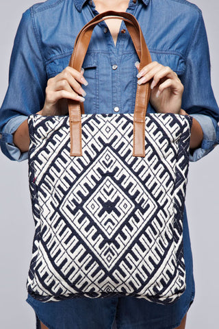 canvas tapestry tote